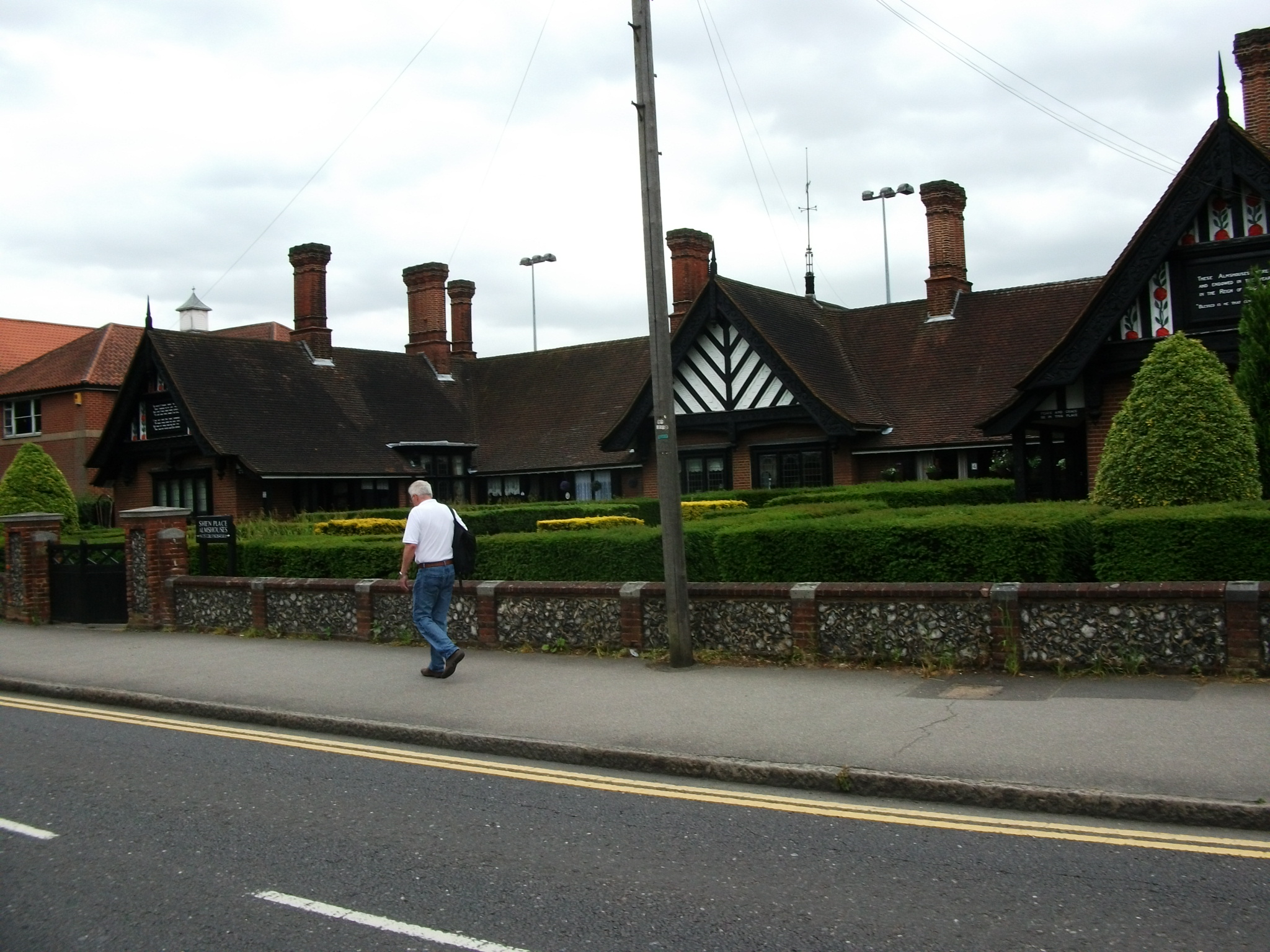 Shen Place Almshouses from Shenfield Road Brentwood
